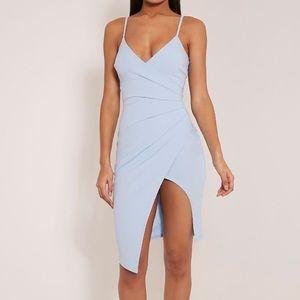 Pretty Little Thing Asymmetric Dress Blue